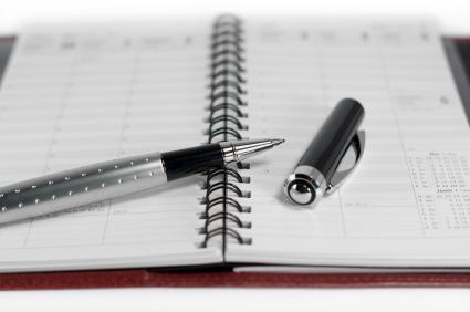 Day planner & pen