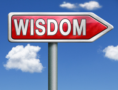 wisdom road sign arrow
