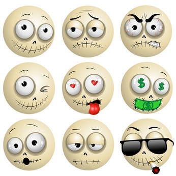 Voodoo Macumba Smileys Emotions Icons