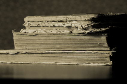 Old books on the table